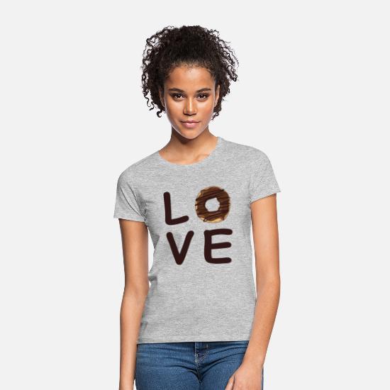 Birthday T-Shirts - Donut love gift chocolate calorie fun shirt - Women's T-Shirt heather grey