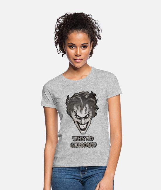 Serious T-shirts - Joker – Why so serious T-shirt herr - T-shirt dam gråmelerad