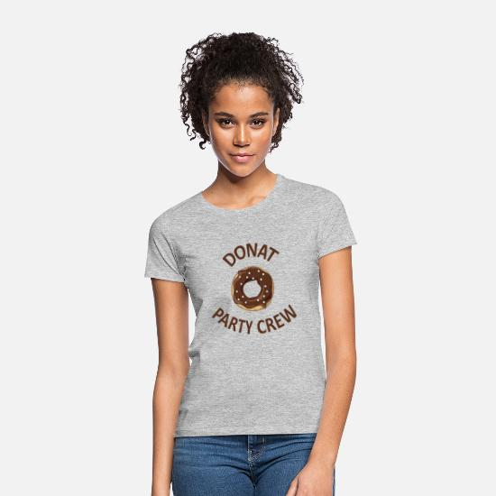 Birthday T-Shirts - Donut gift party crew party monster fun shirt - Women's T-Shirt heather grey