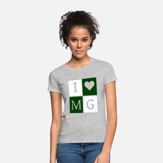 Love T-Shirts - I love MG green and white - Women's T-Shirt heather grey