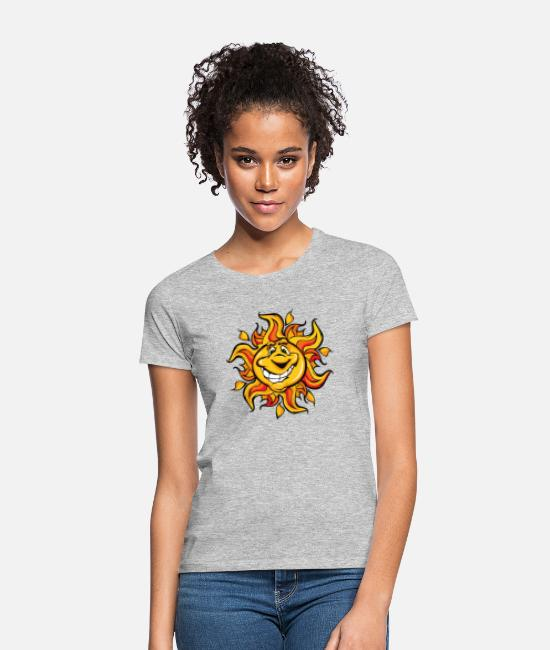 Competition T-Shirts - Sun - Women's T-Shirt heather grey