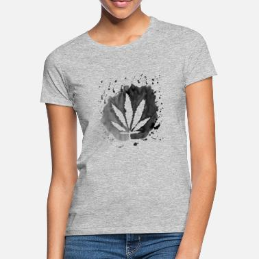 Cannabisleaf Cannabis leaf black white gift hemp weed - Women's T-Shirt