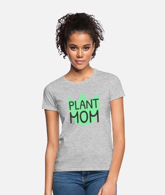 Garden T-Shirts - Plant mom - Women's T-Shirt heather grey