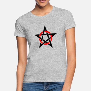 Drudenfuß Pentagram Drudenfuß Witch Pagan Witch Esoteric - T-shirt dame
