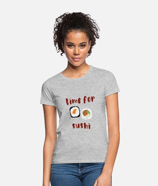 Piston T-Shirts - time for sushi - Women's T-Shirt heather grey