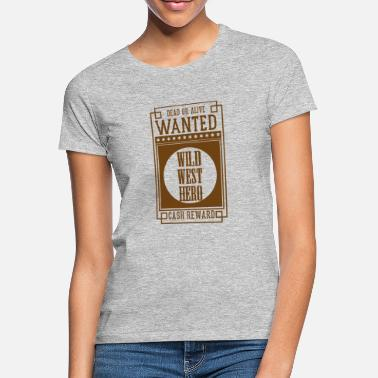 Orchestra WANTED DEAD OR ALIVE - WILD WEST HERO Sepia - Women's T-Shirt