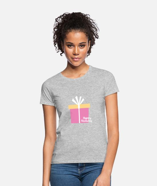 Birthday T-Shirts - happy Birthday - Women's T-Shirt heather grey