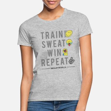Marathon SmileyWorld Train Sweat Win Repeat - Frauen T-Shirt