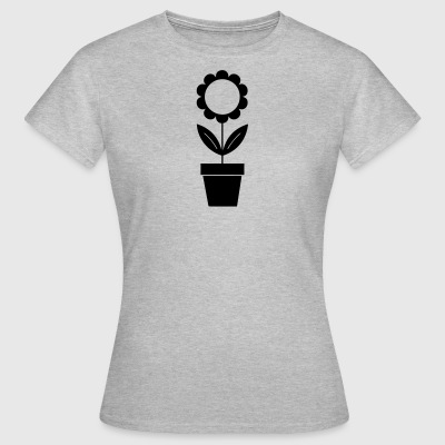 Sunflower silhouette - Women's T-Shirt