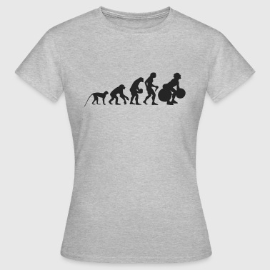 Evolution of weight lifting - Women's T-Shirt