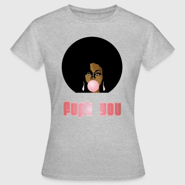 Funk You 70's Retro Bubblegum Afro Queen - Women's T-Shirt