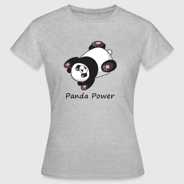 Panda Power belly crawl - Women's T-Shirt
