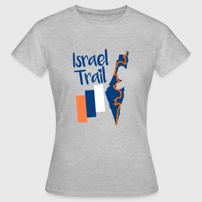 Israel Trail Map Motif - Women's T-Shirt