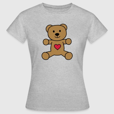 teddy bear with heart - Women's T-Shirt