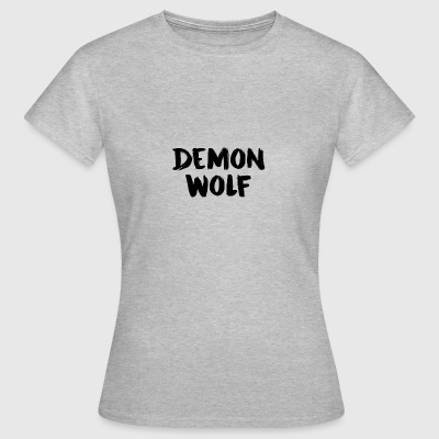 Demon Wolf Textdesign Svart - T-shirt dam