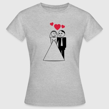 happy wed / newly wed / wedding / stag 2c - T-shirt Femme