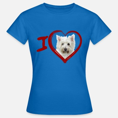 West Yorkshire West Highland White Terrier (Pintura - Pintura) - Camiseta mujer
