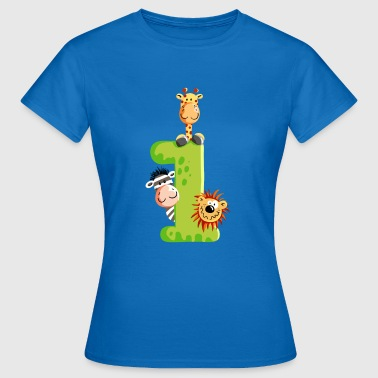 First Birthday - One - Number - Animals - Women's T-Shirt