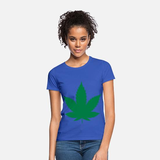 Hemp T-Shirts - Grass / Hemp - Women's T-Shirt royal blue
