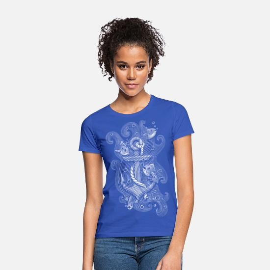 Maritim T-Shirts - Lost anchor - Frauen T-Shirt Royalblau