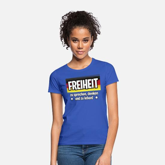 Freedom Fighters T-Shirts - Freedom DE - Women's T-Shirt royal blue
