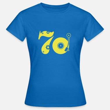 Seventies 70 Shirt Blu T DonnaSpreadshirt Premium Maglietta CBWdeorx