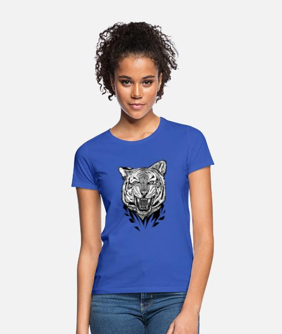 Wild Cat T-Shirts - Black tiger predator - Women's T-Shirt royal blue