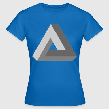 3D Impossible Triangle - Women's T-Shirt