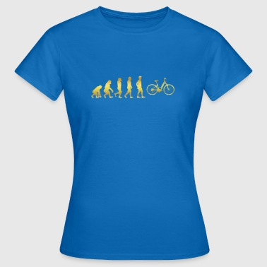 evolution human ekg heartbeat women cycle cycling - Women's T-Shirt