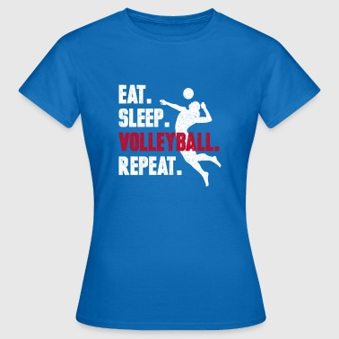 Eat sleepy volleyball repeat gift funny birth - Women's T-Shirt