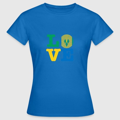 ST VINCENT GRENADINERNE HEART - Dame-T-shirt