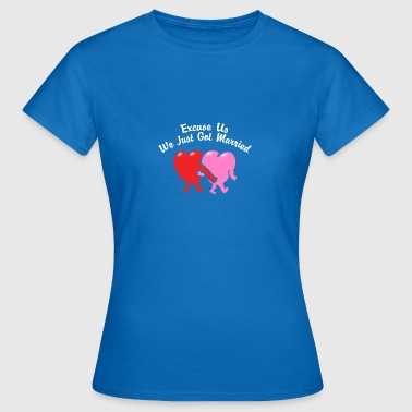 Just Married Undskyld os - Dame-T-shirt