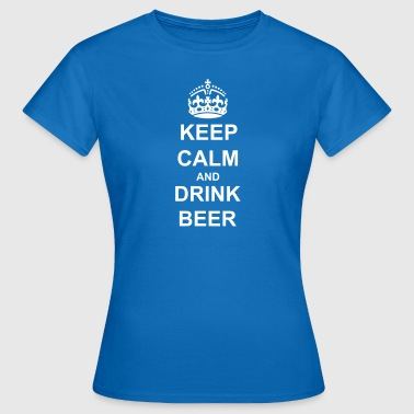 KEEP CALM AND DEIN TEXT - Frauen T-Shirt