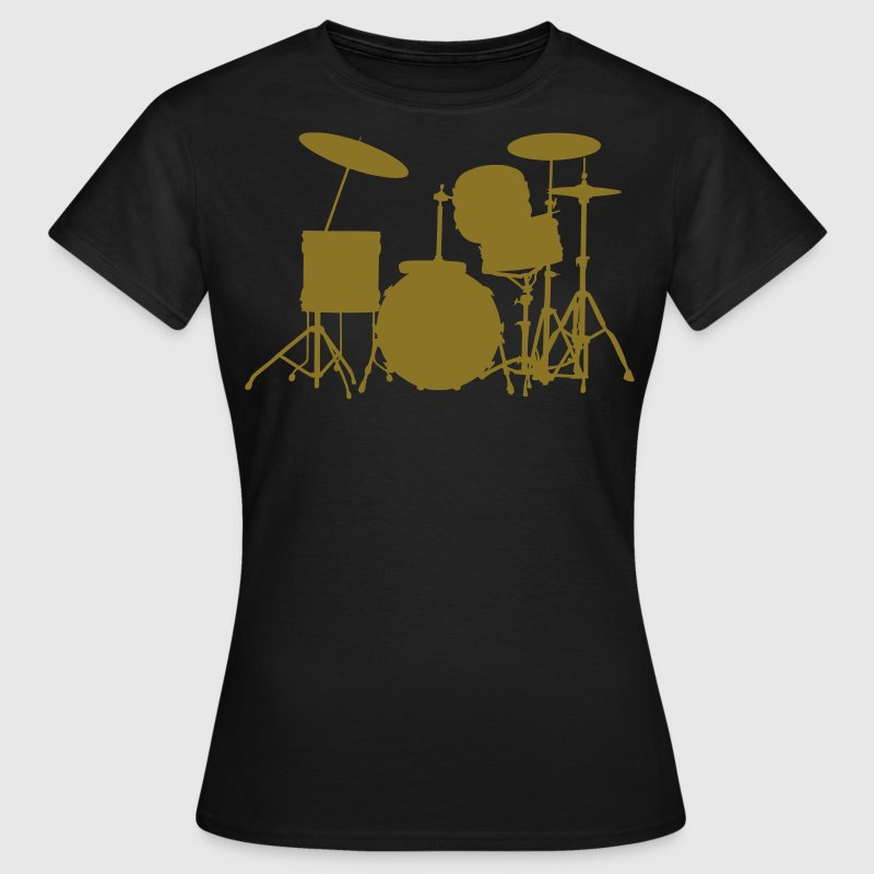 music drums drum set - Dame-T-shirt