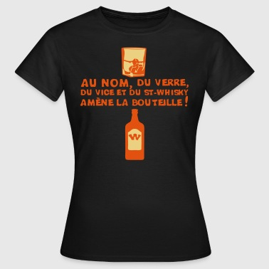 nom verre vice whisky amene bouteille 1 - T-shirt Femme