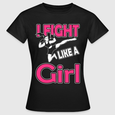 fight like a girl - T-skjorte for kvinner