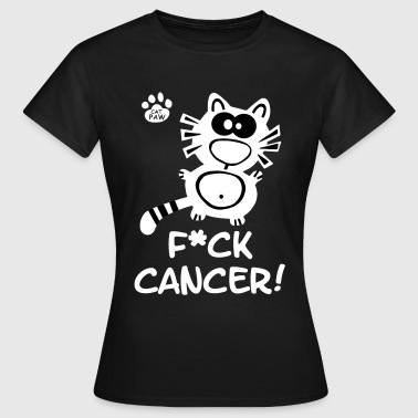 Catpaw Design Krebs Brustkrebs Fuck Cancer Katze - Women's T-Shirt