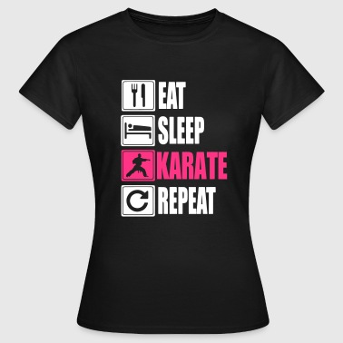 Eat Sleep Karate Repeat - Koszulka damska