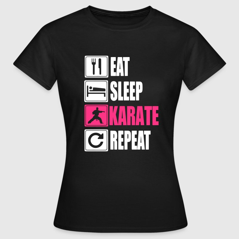 Eat Sleep Karate Repeat - T-shirt dam
