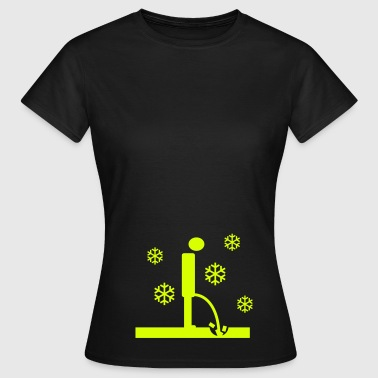 winter pinkeln - Frauen T-Shirt