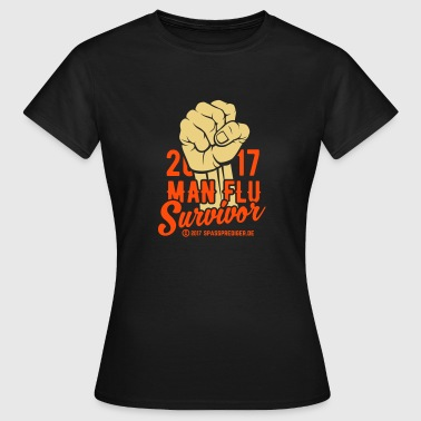 2017 Man Flu Survivor - Frauen T-Shirt