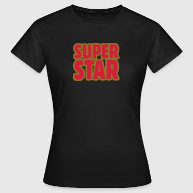SUPERSTAR Outline - T-skjorte for kvinner