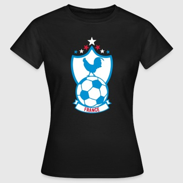 france foot supporter ecusson8 coq fanio - T-shirt Femme