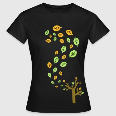 Autumn leaves in the wind - 3 colors - Women's T-Shirt