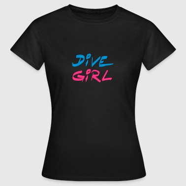 Dive Diving Girl Shirt - Women's T-Shirt