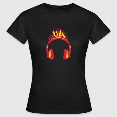 Headphones flame fire music 2004 - Women's T-Shirt