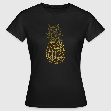 Pineapple (Geometric Style) - T-skjorte for kvinner