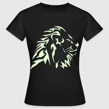 tshirt lion tribal vectoriel - T-shirt Femme
