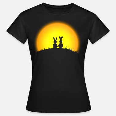 Rifleman cute and rude bunny bunnies hare leveret jackass long ear gun pistol rifle casher hunter ranger hunt - Women's T-Shirt