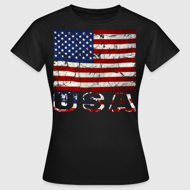 vintage us flag stars and stripes distressed - Women's T-Shirt